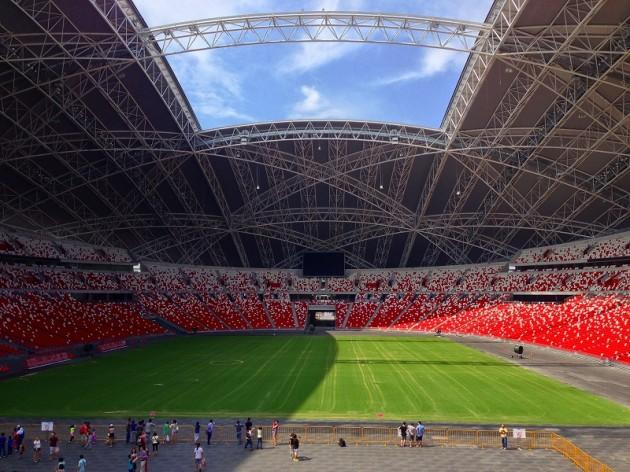 ナショナルスタジアム内部-シンガポール