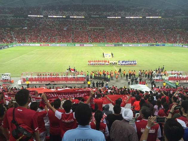 シンガポール国歌斉唱