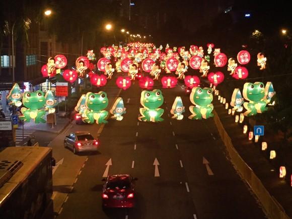 シンガポール チャイナタウン 中秋節 ライトアップ
