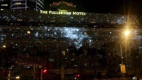 フラトンホテル プロジェクションマッピング