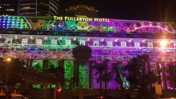 フラトンホテルのプロジェクションマッピング