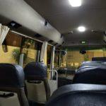 ホテルへ向かうバス