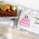 隔離中のサプライズ!誕生日にホテルからケーキ!